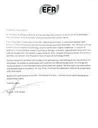 Cover Letter With References Cover Letter Recommendations Letter Of