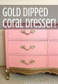 coral furniture. Coral Gold Dipped French Provincial Dresser, Painted Furniture M