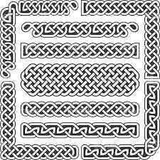 Printable Celtic Knot Designs Celtic Knots Medieval Seamless Borders Patterns And