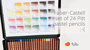 So Disappointed Faber Castell Pastel Pencils 24 Sets Color Range