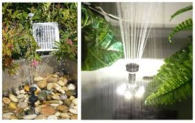 Solar Water Fountain HighPowered Pump Kit U2013 AquaJet Custom Kit Solar Water Features With Lights
