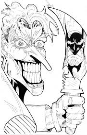 Small Picture Scary Joker with Knife Coloring Page NetArt