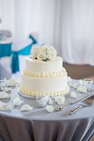 Two Tier Round Wedding Cake With Buttercream Frosting