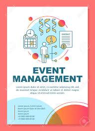 Meeting Flyer Design Event Management Poster Template Layout Seminar Business Meeting