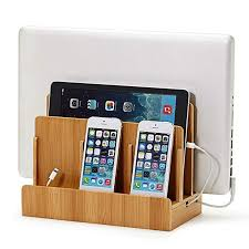 multiple ipad charging station. Contemporary Ipad Eco Bamboo MultiDevice Charging Station Dock U0026 Organizer  Multiple  Finishes Available For Throughout Ipad M