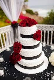 White Red And Black Wedding Cakes Wedding Cake From Imacimagesco
