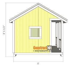 playhouse plans side view