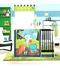 sports bedding sets theme crib infant football boy a com jungle themed baby room rugs cape