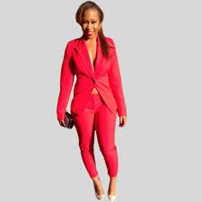 online buy whole formal pantsuit from formal pantsuit formal ladies suits 2015 hot autumn red pantsuit office work blazer pants long sleeve single breasted