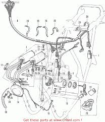 honda cb500k1 four general export wire harness schematic partsfiche wire harness schematic