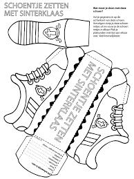Kleurplaat Sinterklaasschoentje Knutselen Kleurplatennl