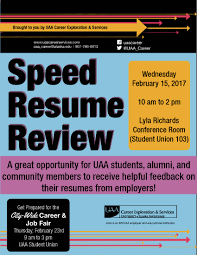uaa city wide career job fair university of alaska 2017 uaa speed resume review