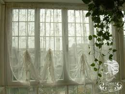 20 each panel french country lace balloon shade austrian sheer voile cafe kitchen curtain 011