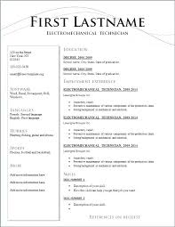 Formats For Resumes Impressive Format Of Resume For Mechanical Engineering Students Formats Resumes