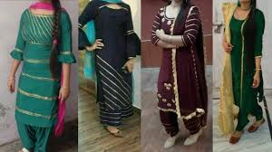 Plain Punjabi Suit With Lace Design Laces Design On Punjabi Suits Punjabi Suits Designs With