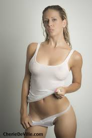 Cherie DeVille All White Wearing nothing but a white tee and.