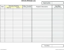 Printable Mileage Chart Free Mileage Log Template Vehicle Book Printable Templates