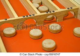 Wooden Puck Game Enchanting Old Dutch Shuffleboard Game With Wooden Pucks