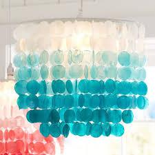 turquoise ombre capiz chandelier