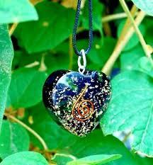 black tourmaline orgone orgonite heart