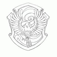 Harry Potter Coloring Pages Hogwarts Crest Coloring Home
