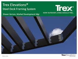 Trex Span Chart Trex Elevations