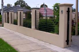 metal fence design. Cool Brick Fence Designs Minimalist Perfect Design Stunning And On Top Beautiful . Metal E