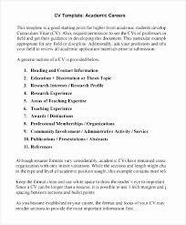 Academic Curriculum Vitae Template Best Of Academic Cv