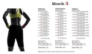 workout plan month 3