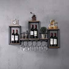 wine glass storage hanging wine rack