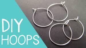 Design Your Own Hoop Earrings Diy Hoop Earrings Wine Charm Rings Wire Jewelry Tutorial