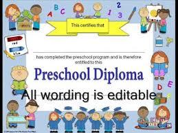 Preschool Graduation Announcements Editable Diplomas Graduation Invitations For Preschool Kindergarten Grades 1 6