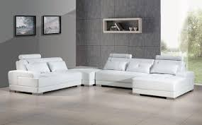 modern white faux leather sectional sofa set 4pcs right chaise soflex memphis soflex memphis