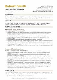 Sales Associate Resume Example Customer Sales Associate Resume Samples Qwikresume