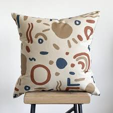 abstract shapes cushion cover abstract