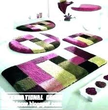 purple bath rugs bathroom rug sets round long lavender colored dark