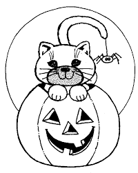 Small Picture Nice Design Halloween Coloring Pages With Cats Free Printable