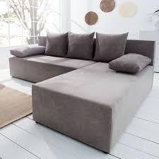 Riess Ambiente Sofa Design Ecksofa Cubus Baumwolle Greige