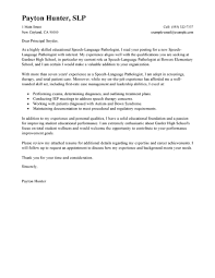 Cover Letter For Resume Leading Professional Speech Language Pathologist Cover Letter 88