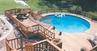 Above Ground Swimming Pool Deck Designs Interesting Inspiration Design