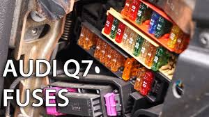 where are electrical fuses located in audi q7? automotive  at Audi A4 Fuse Box Location 2017 Footwell