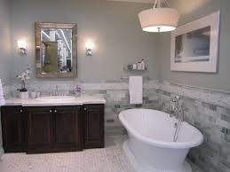 image of grey tile bathroom designs