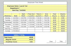 Sample Payroll Timesheet Simple Excel Timecard Template Sample Employee Monthly Timesheet Spitznas