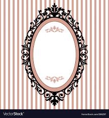 antique picture frames vector. Oval Vintage Frame Vector Image Antique Picture Frames