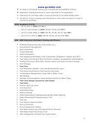 Manual Testing Resume Format For Freshers Superb Qtp Sample Resume