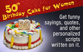 50th Birthday Cakes For Women Funny Themes To Choose From