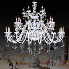 image of contemporary chandelier white