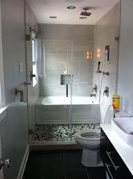 Illustration of Efficient Bathroom Space Saving with Narrow Bathtubs for  Small Bathroom Ideas