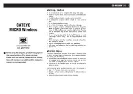 Cateye Cc Mc200w Instruction Manual Manualzz Com
