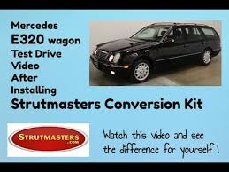 It has 112k miles and has been heavily pampered every mile of it. Mercedes E320 Wagon Handles Great With Rear Strutmasters Kit Installed Youtube